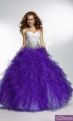 Long purple dress with sparkly detail on top
