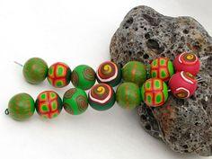 SALE Dschungel Perlenset aus Polymer Clay von polymerdesign auf Etsy