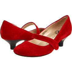 Gabriella Rocha Ginger red suede leather shoes at www.zappos.com for $49.99 (sale down from 65) #kathrynswishlist