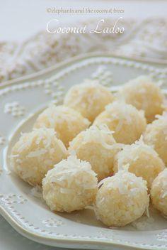 Coconut laddu / 15 minutes Laddoo / Thengai laddu / Nariyal Ladoo / Easy Diwali Sweet  No ghee, no oil with s&condensed milk.Tastes like ALMOND JOY filling.