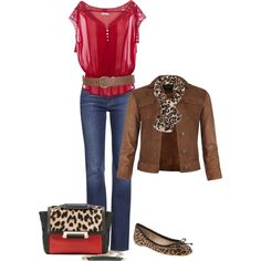 """Fall Fashion""....love the leopard print"