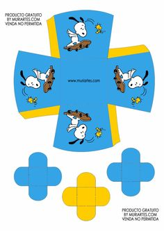 Cajita abierta. Snoopy Snoopy Birthday, Snoopy Party, Happy Birthday, Diy And Crafts, Arts And Crafts, Paper Crafts, Birthday Party Invitations Free, Christmas Artwork, Peanuts Gang