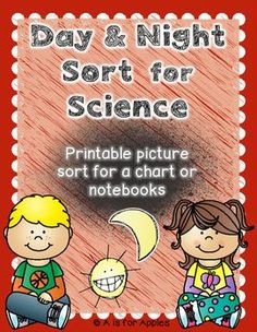 Use this picture sort to help students learn about day and night. Sort the pictures to show if the object can be seen during the day, at night, or both. Use the chart, venn diagram, or use the page headers & glue directly into a Science notebook.