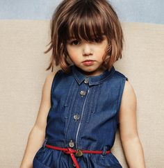Burberry sleeveless denim dress with removable belt