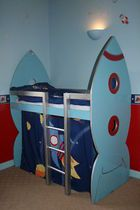 Rocket Bed For My Nephew Diy Room Bedroom Bed