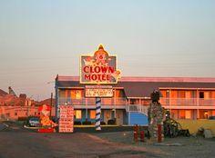 The Clown Motel- Tonopah, NV  This is for real! So creepy.haha