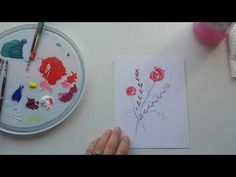 A Small #Flower #Painting #Process #video - with more info in the description below