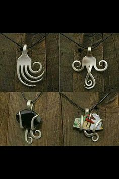 Up cycle a fork into a pendent