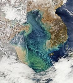 Swirls of Color in the Yellow Sea. Image acquired on February by the Moderate Resolution Imaging Spectroradiometer (MODIS) on NASA's Aqua satellite. Solar System Exploration, Yellow Sea, Blue Green, Nasa Images, Aqua, Remote Sensing, Ocean Colors, Space Photos, Image Of The Day