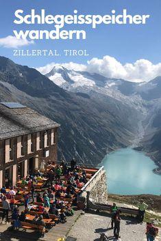 Rund um den Schlegeis Speichersee findet ihr einige schöne Wege zum Wandern – auf breiten und schmalen Wanderwegen. Wo am Schlegeisspeicher wandern? Hier zeige ich die die beste Wanderung zu diesem Fotospot! #Zillertal #schlegeisspeicherwandern #wandern #tirol #wandernintirol #olpererhuette #zillertaleralpen Reisen In Europa, Austria, Mount Everest, The Good Place, Travel Destinations, Road Trip, Wanderlust, Hiking, Journey