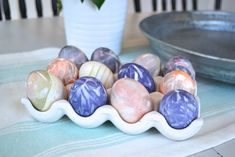 Zero-mess Easter eggs using thrifted neckties - NewlyWoodwards