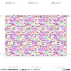 Mother's Day Hearts Light Tissue Paper