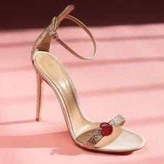 Gianvito Rossi Crystal-Embellished Satin Sandals