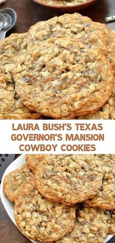Cowboy cookies - I can hardly wait to share the great cookie recipe with you In short, this is an upgraded version of Oat Cookies Solid and firm, they are full of oats, coconut, pecans and very good Oat Cookies, Yummy Cookies, Oatmeal Coconut Cookies, Cheese Cookies, Candy Cookies, Oatmeal Cookies Crispy, Oatmeal Cinnamon Cookies, Cookies With Oats, Chocolate Chip Deserts