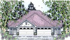 Country Multi-Family Plan 79240 Elevation