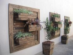 I LOVE the Pallet Verticle Wall Planters