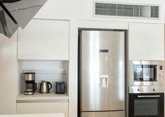 projects | mobel: Η πολυτέλεια που σου αξίζει French Door Refrigerator, French Doors, Kitchen Appliances, Wood, Projects, Diy Kitchen Appliances, Log Projects, Home Appliances, Blue Prints