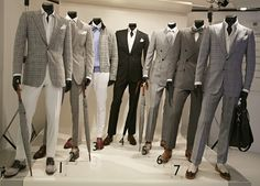 men's clothing window display | London Collections: Men spring/summer 2014 live blog - Telegraph