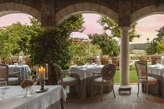Tuscan Villa, Borgo Santo Pietro, once a stop for weary medieval travelers on a holy pilgrimage, now offers refuge of an upscale variety to nourish body, mind, and soul.