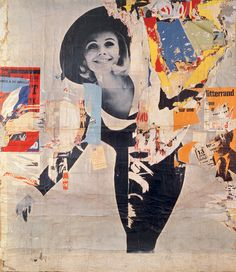 jacques villegle and/or raymond hains decollage Art Du Collage, Collage Artists, Mixed Media Collage, Picasso Collage, Art And Illustration, Illustrations, Collages, Photomontage, Raymond Hains