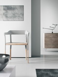 Home Inspiration XOIO grey white silver charcoal flooring walls furniture chair print