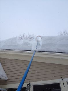 Remove Snow From Your Roof Easily With This Easy To Make DIY ROOF RAKE  DEVICE,