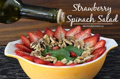 This Strawberry Spinach Salad recipe is quick and easy to prepare. This salad recipe is very basic which makes it great for you to add your own variations.