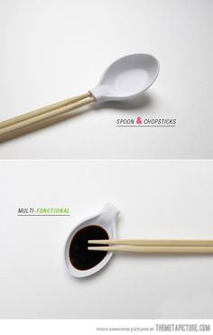Cool chopstick spoon design…