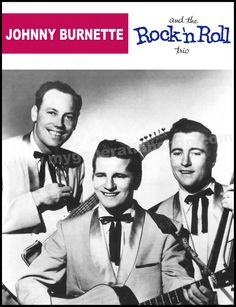 Johnny Burnette Rock & Roll Trio Poster - Rockabilly from the early 1950's. by MyGenerationShop on Etsy