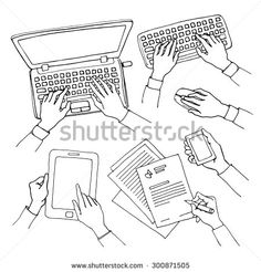 type on keyboard doodle - Google Search