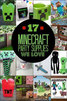 Minecraft Birthday Party Supplies www.spaceshipsandlaserbeams.com
