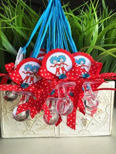 12 thing 1 and thing 2 baby shower thing 1 by Marshmallowfavors