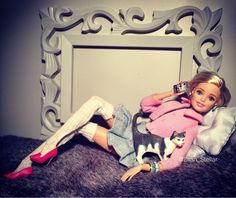https://flic.kr/p/DqSMy5 | Lazy day : Barbie made to move fashion doll