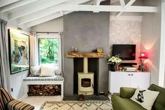 Egon Walesch and Richard Goodwin's lakeside cabin in Westmeath is RTE's Home of the Year Lakeside Cabin, Interior And Exterior, Interior Design, Cabin Interiors, European House, Step Inside, Cabins In The Woods, Retro Chic, Beautiful Homes
