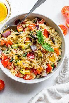 Pasta Salad Recipes, Vegetarian Pasta Salad, Pasta Lunch, Vegetable Pasta Salads, Vegetable Appetizers, Healthy Pasta Salad, Recipe For Orzo Pasta, Orzo Pasta Salads, Healthy Vegetable Pasta Recipes