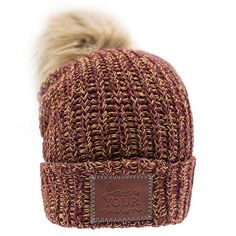 fe1b80ac3d4 Burgundy and Gold Speckled Pom Beanie Love Your Melon Hats