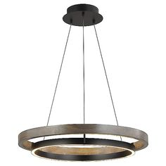Grace Chandelier by Tech Lighting - Color: Black - Finish: Matte Black/Weathered Oak Wood -