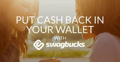 Swagbucks.com is the web's most popular rewards program that gives you free gift cards and cash for the everyday things you already do online. Earn points when you shop at your favorite retailers, watch entertaining videos, search the web, answer surveys and find great deals. Redeem points for gift cards to your favorite retailers like Amazon and Walmart or get cash back from Paypal. Put cash back in your wallet. Join for free today.