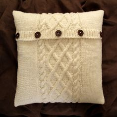 such a cozy sweater pillow