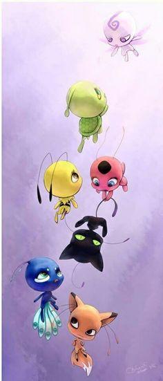 miraculous ladybug, tikki, and kwami image