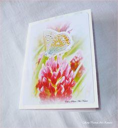 """Carte double 10,5x15cm réalisée à partir de photos de fleurs roses """"Douceur printanière"""" : Cartes par celinephotosartnature"""