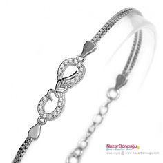 I Love You Sonsuzluk Gümüş Bileklik - 925 ayar gümüş bileklik modelleri arasında, sonsuzluk işareti üzerinde bulunan zirkon taşların ışıltısı ve özel zinciri ile sevgiliye hediye edilebilecek göz kamaştırıcı bir gümüş bilezik. Nazar Boncuğu Resimleri
