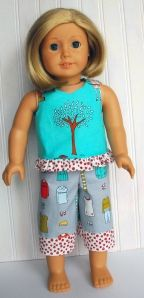 Ruffled Tank for dolls - free pattern on the blog.