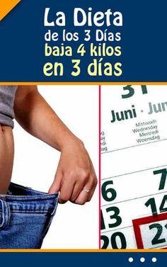 La Dieta de los 3 Días (baja 4 kilos en 3 días) #dieta #adelgazar #bajardepeso