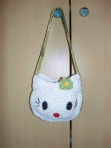 hello kitty bag Hello Kitty Bag, Chrochet, Slippers, Projects, Bags, Shoes, Dime Bags, Crochet Hooks, Log Projects