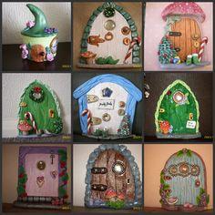 Fairy Doors made from salt dough. https://www.facebook.com/pages/Crafty-Dough/152081408330968