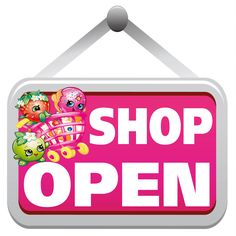 Shopkins Open Sign Wholesale Wall Stickers - Totally Movable