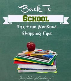 Buy more for less with state sales tax free savings on back-to-school items. Find out if your state is offering, plus check out my shopping tips.