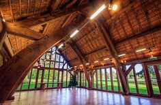The Great Oak Hall, Westonbirt Arboretum, Gloucestershire, England. By Roderick James Architects