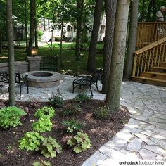 If your outdoor space can be constructed in-or-around the existing trees, you've got automatic, built-in shade. | How To Cover Your Deck, Patio or Porch For Any Price